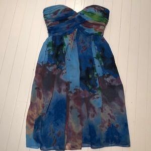 Donna Morgan chiffon strapless dress